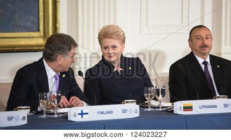 Sauli Niinisto And Dalia Grybauskaite