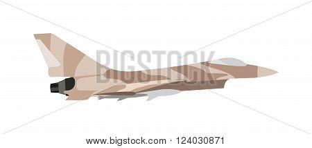 Military plane vector cartoon illustration. Military airplane at flying on the speed. Vector military different types of airplanes image design set for your other design need. Military plane.