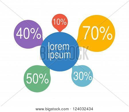 Bubble chart elements vector illustration. Bubble chart Infographic elements Bubble chart vector. Graph business Bubble chart. Graph Bubble chart illustration. Bubble chart template.