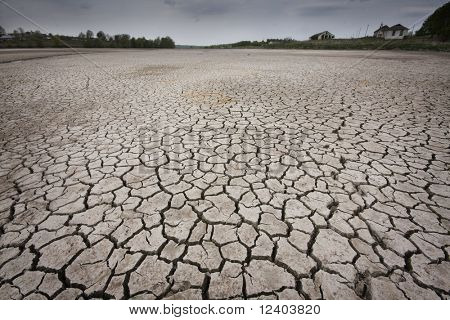 cracked earth - concept image of global warming