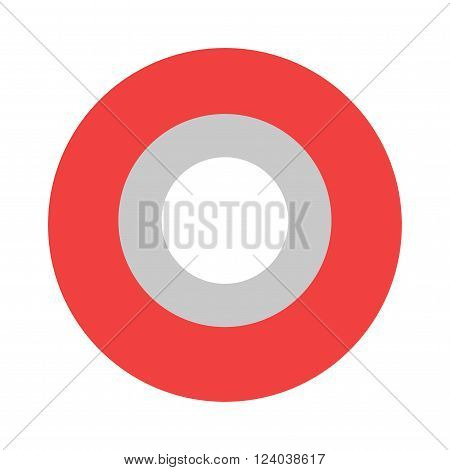 Roll of red insulating tape isolated on a white background. Sticky insulating tape. Insulating tape roll. Insulating electric tape protection