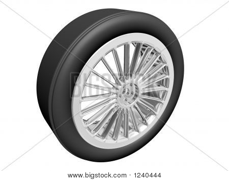 Tire With Alloy Rim
