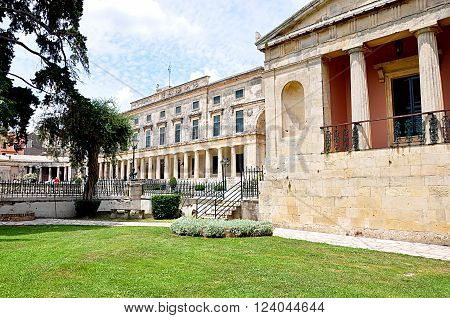 Old palace in the city of Corfu, Greece, Europe