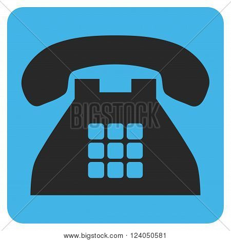 Tone Phone vector icon. Image style is bicolor flat tone phone icon symbol drawn on a rounded square with blue and gray colors.