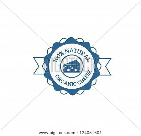 Milk cow logo badge vector template, some cow nature milk label with sample text. Milk logo badge icon for packaging and advertising. Vector cow milk logotype design.
