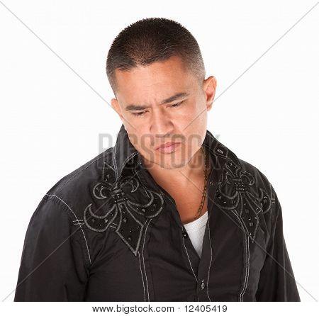 Sad Hispanic Man