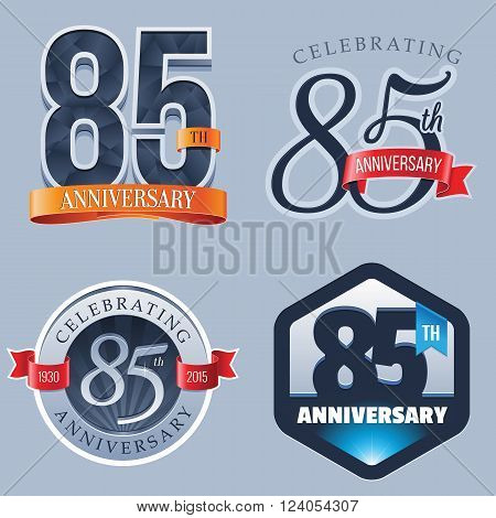 A Set of Symbols Representing a 85 Years Anniversary/Jubilee Celebration