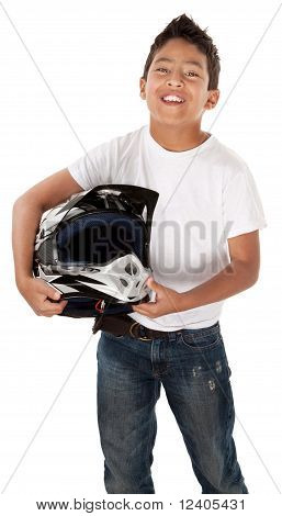 Hispanic Teen Racer