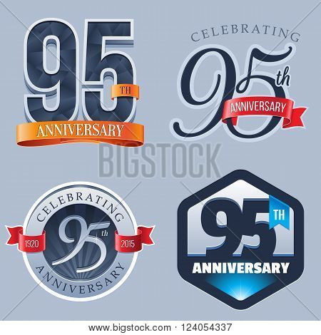 A Set of Symbols Representing a 95 Years Anniversary/Jubilee Celebration