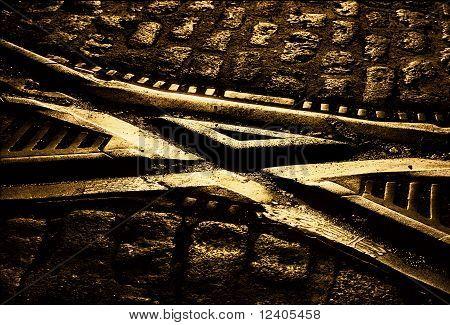 Trolley tracks crossing
