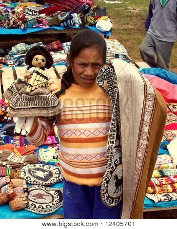 YOUNG INCA SALES GIRL