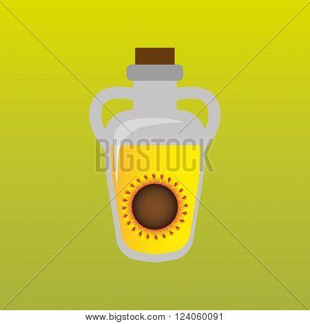 sunflower oil design, vector illustration eps10 graphic