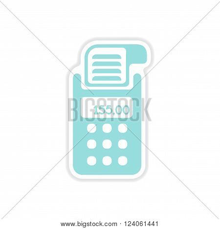 realistic paper sticker on white  background   terminal