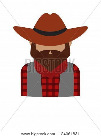 Dangerous criminal bearded man and dangerous flat criminal man in hat vector. Bearded dangerous criminal man cartoon character vector illustration. Danger gangster person icon, western crime silhouette