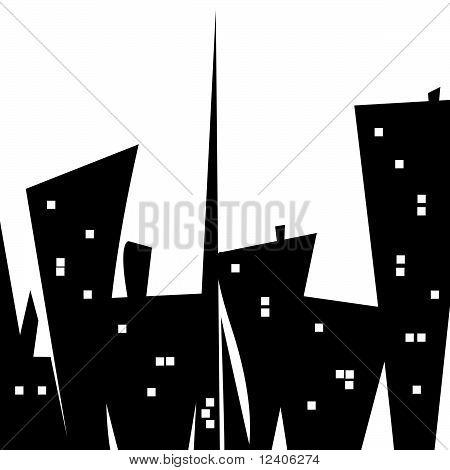 Stylized Cityscape Illustration