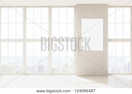 Poster On Brick Wall
