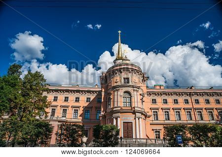 Mikhailovsky Castle, aka St Michael's castle, or Engineers castle, St Petersburg, Russia. One of the main attractions of the city with museum inside.