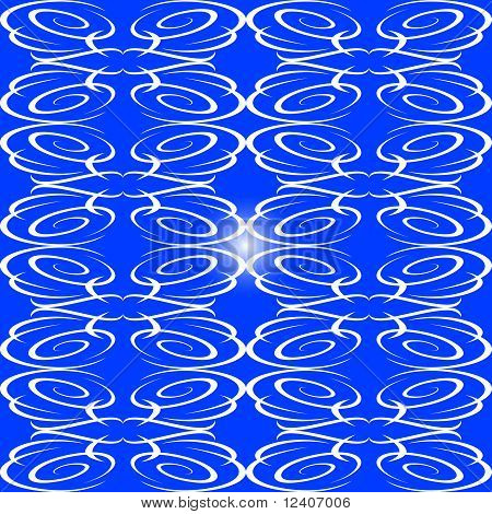 blue decorative seamless ornament background flow pattern