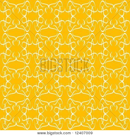 orange seamless ornament decorative background flow pattern