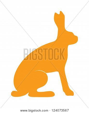 Wild hare rabbit animal flat vector silhouette and wild animal symbol. Animal silhouette. Wild life animals silhouette. Vector silhouette wild animal zoo vector.