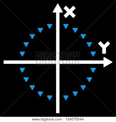 Dotted Circle Plot vector icon.  Dotted Circle Plot icon picture. Dotted Circle Plot pictogram.