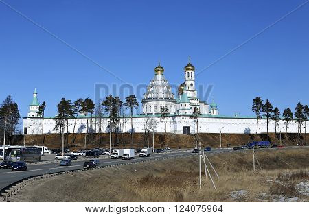 ISTRA, RUSSIA - MARCH 26, 2016: New Jerusalem Monastery