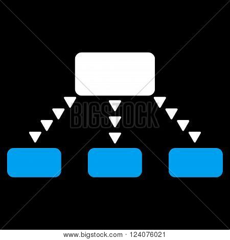 Dotted Scheme vector icon. Dotted Scheme icon symbol. Dotted Scheme icon image. Dotted Scheme icon picture. Dotted Scheme pictogram. Flat blue and white dotted scheme icon.