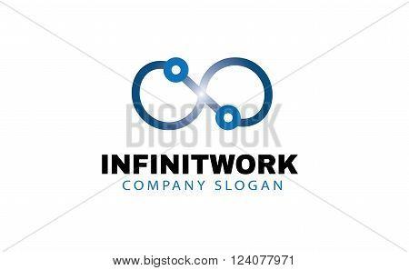 Infinity Work Creative And Symbolic Logo Design Illustration