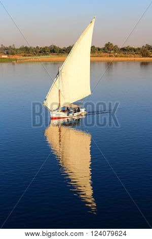 Fellucca On The Nile River Egypt