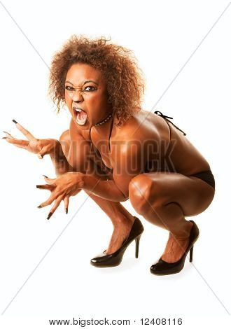 Beautiful African-american Cat Woman