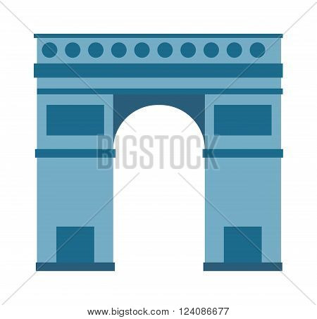 Triumphal arch architecture travel europe and history old triumphal arch. Triumphal arch famous historic place, Triumphal Arch. Arc de Triomphe Paris France architecture europe travel monument vector.