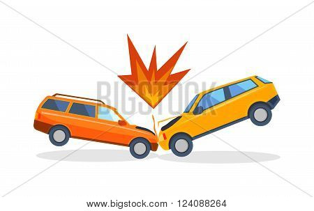 Accident road situation danger car crash and accident road collision