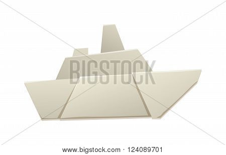 Paper ship origami toy and paper ship vessel transport. Paper transport cruise ship and paper ship simple idea sea toy. Ocean navy freedom yacht paper ship. Origami paper ship sea toy transport vector