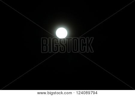 small full moon and black nigth sky