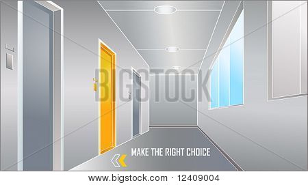 door to the bright future: make the right choice