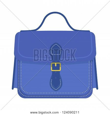 Briefcase business and briefcase concept. Briefcase luggage and document case briefcase. Document case finance businessman object. Businessman holding work briefcase vector illustration.