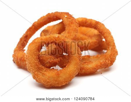 Onion rings isolated on a white background