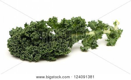 Fresh green kale isolated on a white background