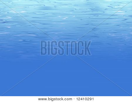 Abstract underwater background with light clear water texture