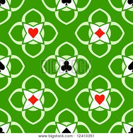 Spielkarte passt nahtlos Kasino ornament