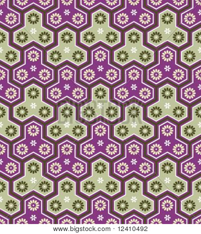 Classic japanese seamless pattern in purple-grass colors