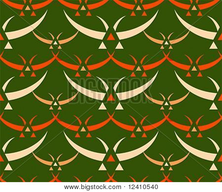 Classic japanese birds seamless textile pattern