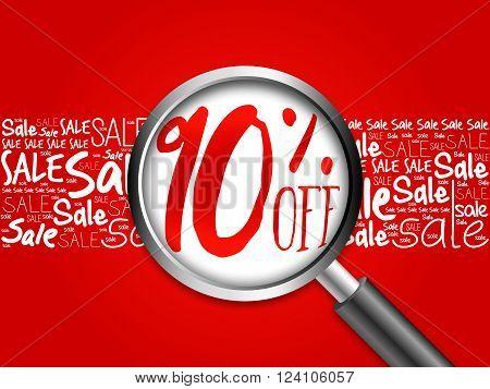 90% Off Sale Word Cloud