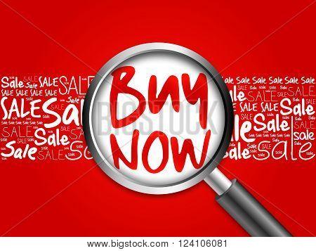 Buy Now Sale Word Cloud