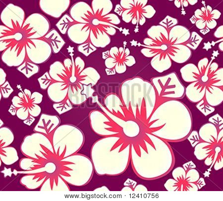 Hibiscus flower japanese seamless pattern