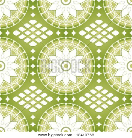 Seamless classic russian lacing pattern in grassy colors