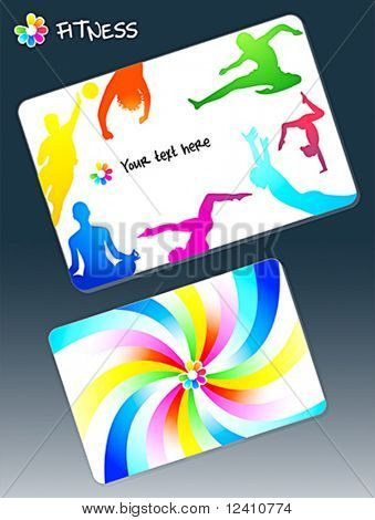 Front and back design for fitness club business card