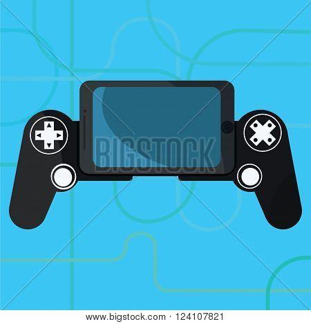 Gamepad Joystick . Joystick game . Made in vector illustration