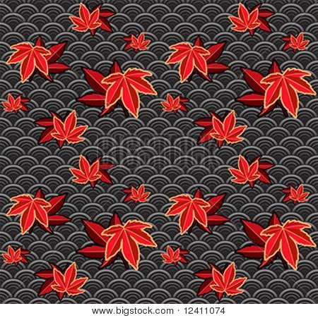 Seamless momiji (maple) japanese pattern