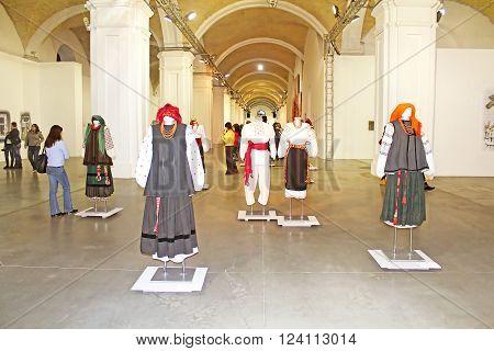KYIV, UKRAINE - FEBRUARY 14, 2015: 5 Feb.- 1 March 2015 at cultural complex